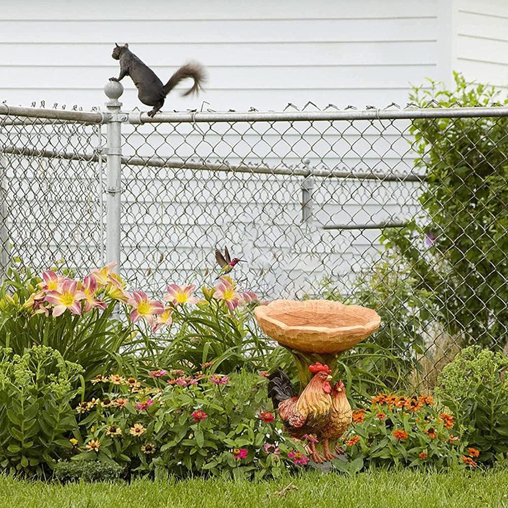 CAIYUAN Bird Baths Dedication for Genuine Outdoors Bath Bowl Water Feed