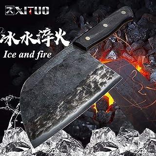 Multiusos Cuchillos forjado hecho a mano del cuchillo del cocinero de la espiga completa china Cleaver cuchillos de cocina de carne verduras Fileteado rebanar carnicero cuchillo ancho Sharp cutting ch