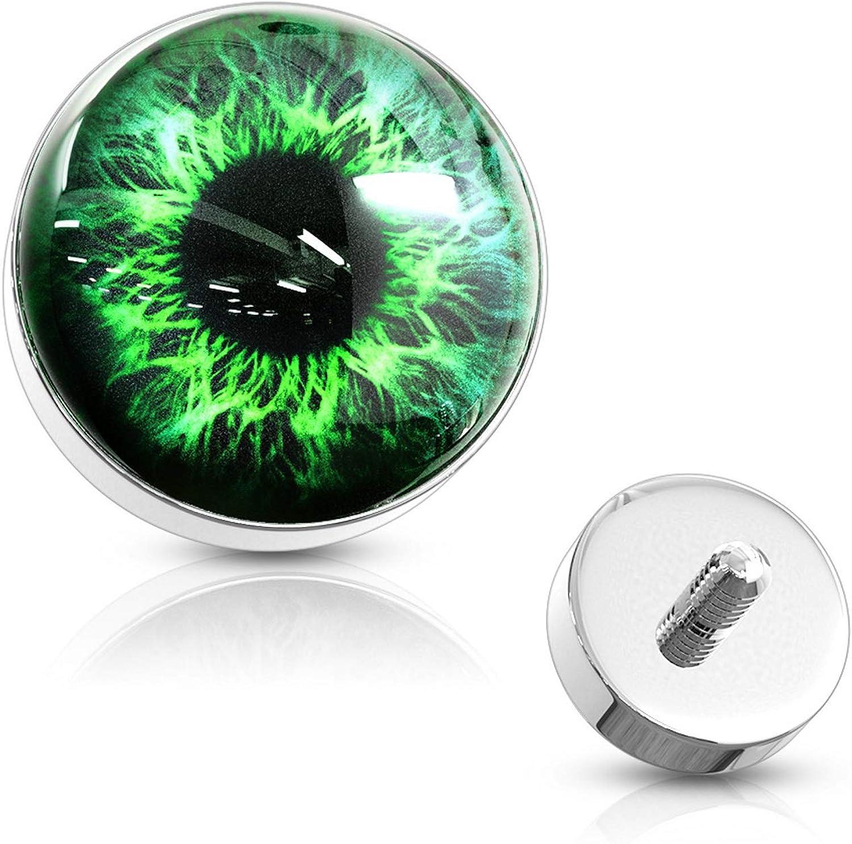 BYB Jewelry Eyeball Design Surgical Steel Dermal Anchor Top