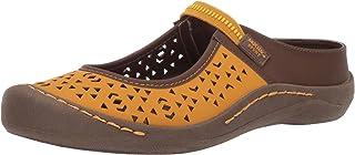 MUK LUKS Women's Justine Sport Shoe-Yellow Sandal