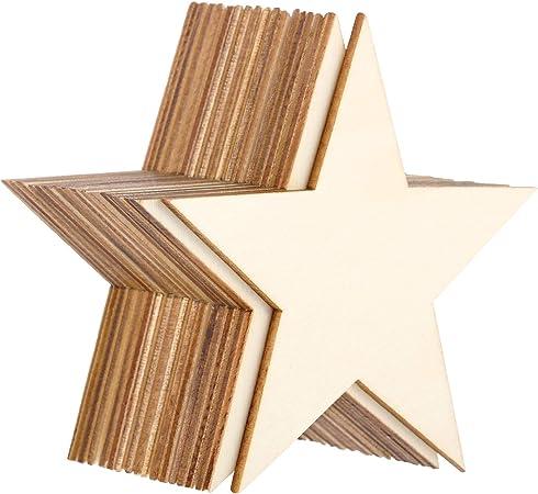 36 件空白木切口未抛光木件适用于 DIY 艺术作品、装饰、礼品标签