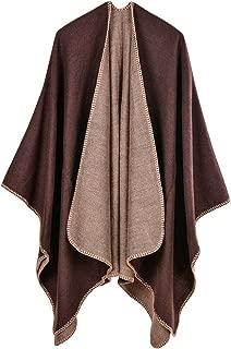 IMAGINE Women's Winter Open Front Cashmere Oversized Wrap Poncho Cape Cardigans