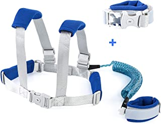 Owlike Anti Lost Wrist Link for Toddler,Safety Wrist Link for Kids with Reflective Tape Anti Lost Harness for Baby Walking Safety Leash (Blue)