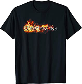 Constantine Logo in Flames T Shirt