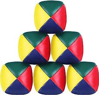 6 Packs Juggling Balls Set for Beginners, Quality Mini Juggling Balls, Durable Juggle Ball Kit, Soft Easy Juggle Balls