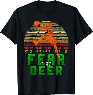 Fear The-Deer Gift For Milwaukee Basketball Bucks Fans 34 T-Shirt