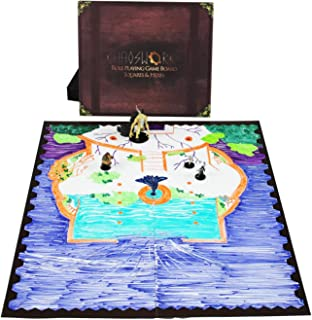 Khaosworks Role Playing Game Board: Vinyl Battle Mat Alternative- Dungeons and Dragons D&D DnD Pathfinder RPG play compatible - 27''x 23'' - Two-sided: 1'' squares AND 1'' hexes - Foldable & Dry Erase