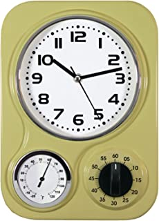 Northpoint 162097 Kitchen Clock With Temperature and Timer