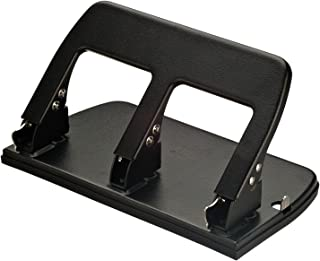 Officemate Medium Duty 3 Hole Punch with Ergonomic Handle, 30 Sheet Capacity, Black (90088)
