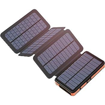 Hiluckey Cargador Solar 25000mAh Portátil Power Bank con USB & USB ...