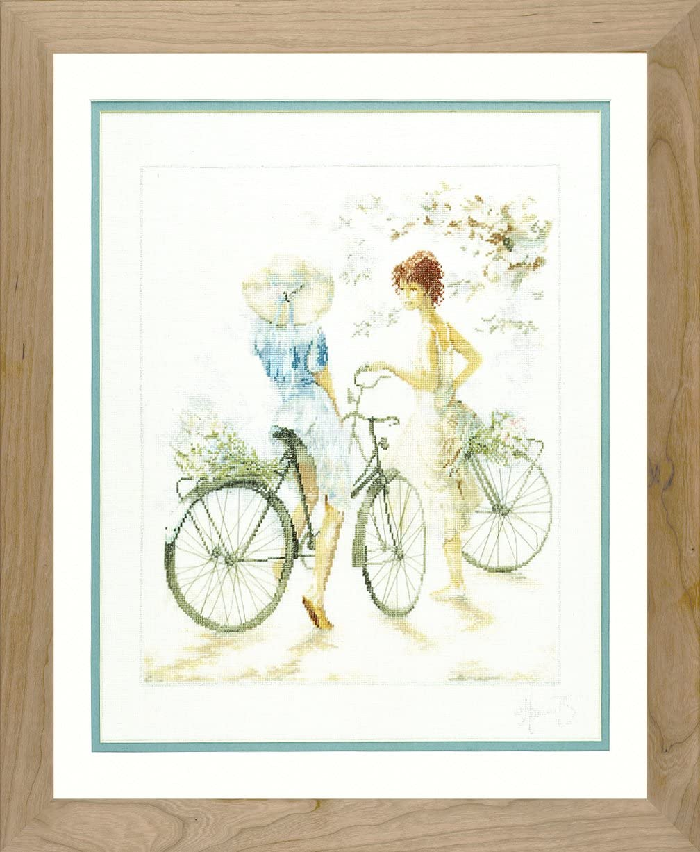 Lanarte Be Deluxe super welcome Vervaco PN-0007949 Bicycles Stit Cross Picture Counted