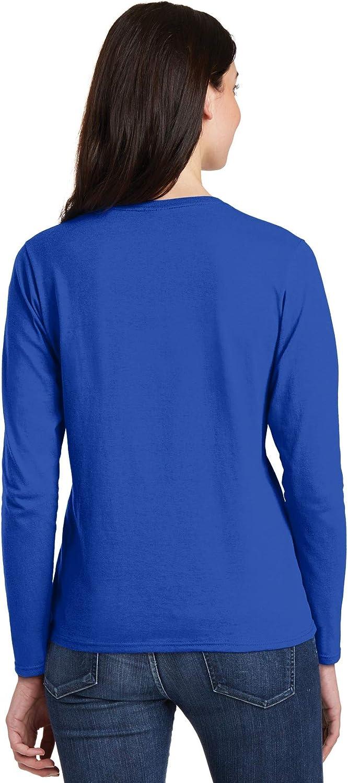 Gildan Heavy Cotton Ladies' Long-Sleeve T-Shirt, Royal, Medium