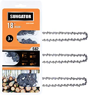 SUNGATOR 3-Pack 18 Inch Chainsaw Chain SG-S62, 3/8