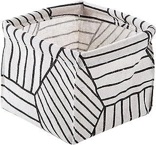 PAEFIU Petits Paniers De Rangement Paniers De Rangement en Tissu Petite Boite De Rangement Pliable Organisateur Cube De Ra...