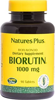NaturesPlus Biorutin (Sophora Japonica) - 1000 mg, 90 Vegetarian Tablets - Vein Health Supplement, Joint Pain Relief, Anti...