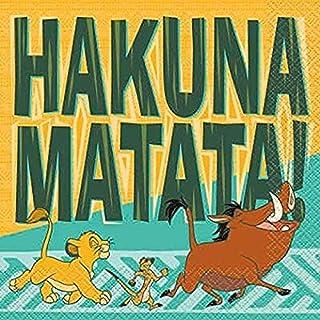 Lunch Paper Napkins   Disposable   Hakuna Matata   16 Pcs.