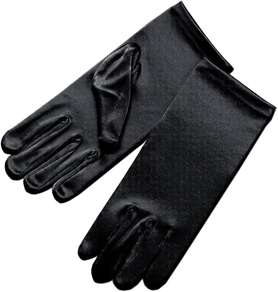 Elegant Ingenue Girl's Satin Wrist Length Gloves