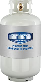Worthington 303954 30-Pound Steel Propane Cylinder With Type 1 With Overflow Prevention Device Valve (Older Model)
