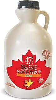 47 North Jarabe de arce orgánico canadiense, Single Source, Grade A, (Amber Rich, 1000ml)