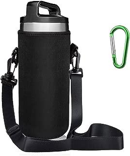 EEEKit Water Bottle Sleeve for 18oz YETI Rambler Ozark Rtic Stainless Steel Bottle(18oz),Hydro Flask 18oz, Neoprene Tumbler Travel Holder Bag with Removable Shoulder Strap