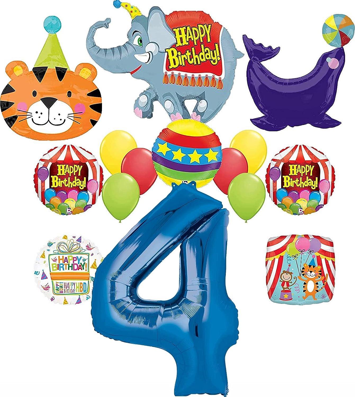 4th Birthday Circus Balloon Bundles