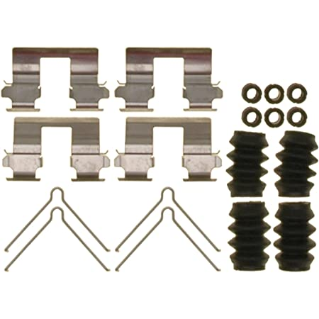 and Bushings Seals Springs ACDelco 18K2122X Professional Front Disc Brake Caliper Hardware Kit with Clips