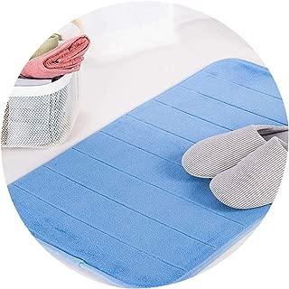 Water Absorption Rug Bathroom Mat Memory Foam Bath Mat Set Kitchen Door Floor Mat Carpet for Toilet Non Slip,Blue,China,50Cmx80Cm