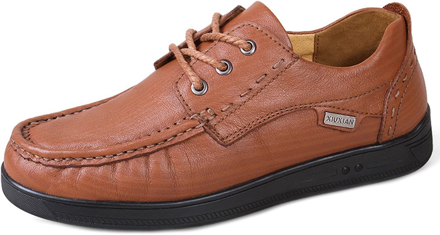 Liveinu Men's Casual Leather Lace Up Oxfords Driving shoes