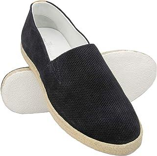 Zerimar Espadrilles Hommes | Espadrilles Hommes Cuir | Espadrilles Classiques Plates | Chaussures Casual Homme Cuir | Espa...