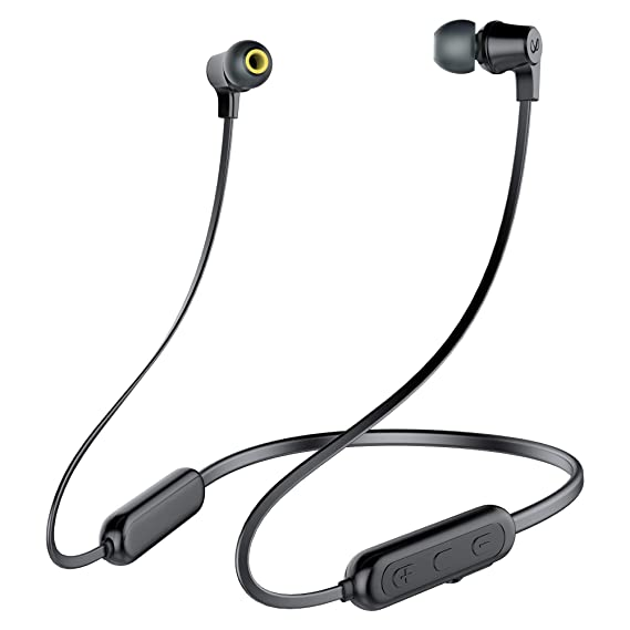 (Renewed) Infinity(JBL) Glide N100 Ultra Lightweight in-Ear Wireless Neckband with Dual EQ, Deep Bass and IPX5 Sweatproof (Charcoal Black)