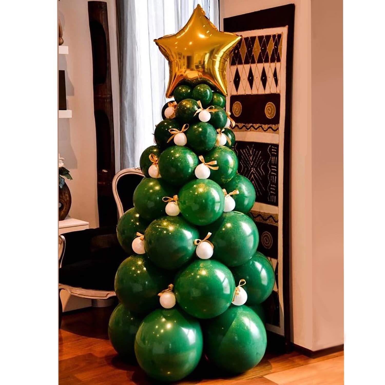 Amazon Com Bonropin Christmas Balloon Garland Arch Kit 96 Pieces Christmas Tree Balloons For Christmas Party Decorations Toys Games