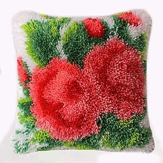 Latch Hook Kits Rug DIY Cushion Carpet Floor Mat Pillow Cover Hand Craft Crochet Flower for Kids Parents Gift