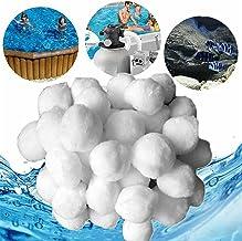 SWECOMZE Bolas de filtro para instalaciones de filtro de arena, 700 g, bolas de filtro de arena, adecuadas para filtros de piscina, filtros de piscina, accesorios de limpieza de piscina.