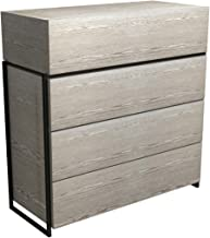 GillmoreSPACE Four Drawer Chest - Weathered Oak With Black Frame