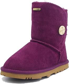 K.Signature Little Kids (4-7 Years) Summer Short One Button Sheepskin Winter Boots