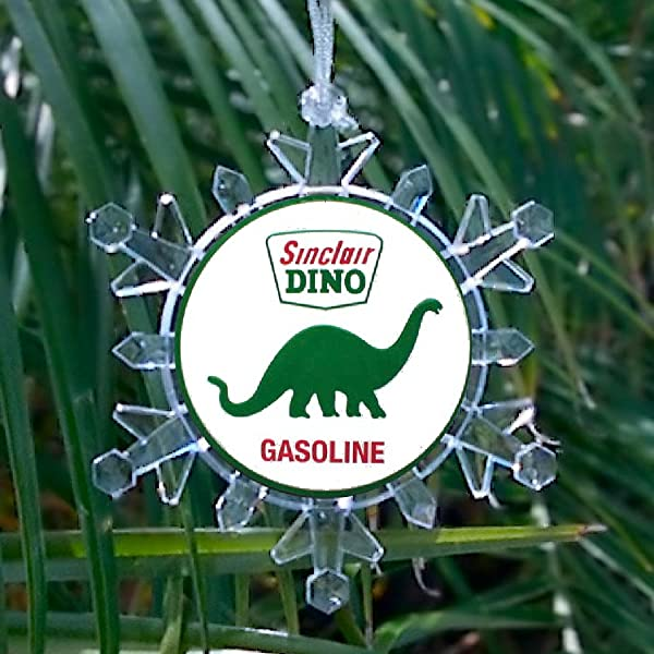 Sinclair Gasoline Gas Oil Snowflake Multi Color Blinking Holiday Christmas Tree Ornament