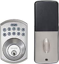Reagle Smart Deadbolt Lock, Works with Siri, Apple HomeKit, iOS and Android - Satin Nickel
