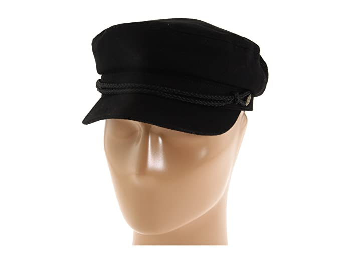 1960s – 70s Style Men's Hats Brixton Fiddler Black Herringbone Twill Traditional Hats $27.06 AT vintagedancer.com