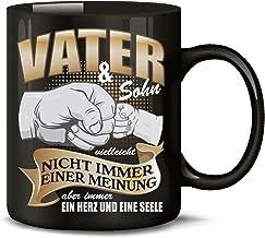 love-all-my-shirts Vater und Sohn Vatertagsgeschenk Geburtstagsgeschenk Vatertagstasse Tasse Kaffee Becher Geburtstag Gesc...