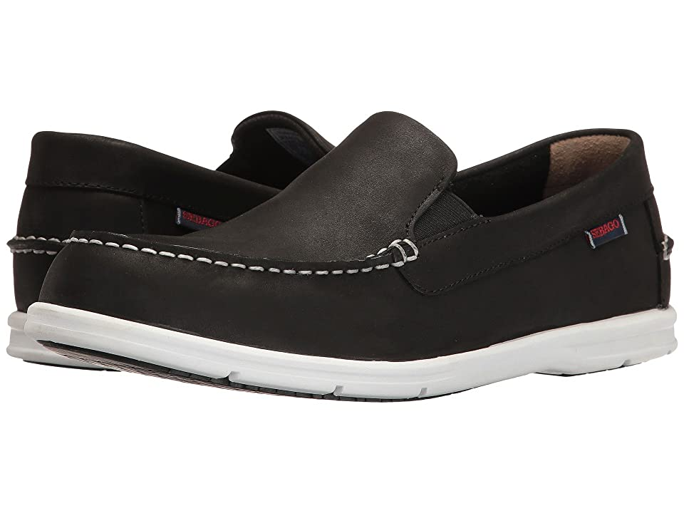 Sebago Litesides Slip-On (Black Leather) Men