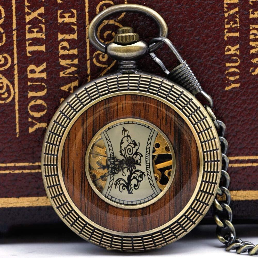 YIWMHE Best New life Max 48% OFF Bronze Skeleton Roman Dial Number Mechanical Pocket