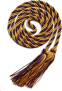 Graduation Honor Cord Two-color Braided Grad Days(Gold Purple)