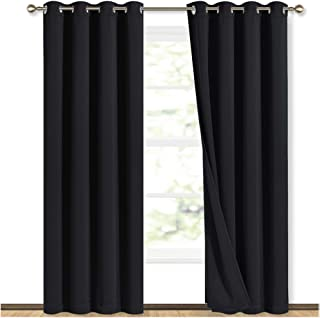 DIMICA Shading Insulated Curtain New York Aerial View American Town Print Blackout Shades for Bedroom W108 x L84 Inch