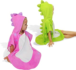 SUNSSEA kids towel 100% cotton toddler bath towel. Cute dinosaur design hooded robe for kids, infants. Perfect beach ponch...