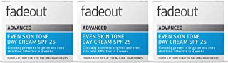 Fade Out Advanced Even Skin Tone Day Cream with SPF25 3 x 50ml - Face Cream With Niacinamide and Lactic Acid to Brighten S...