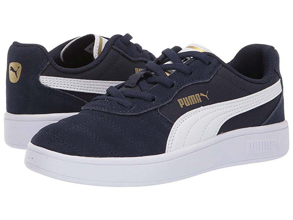 Puma Kids Astro Kick Slip-On (Little Kid) (Peacoat/Puma White/Puma Team Gold) Boys Shoes