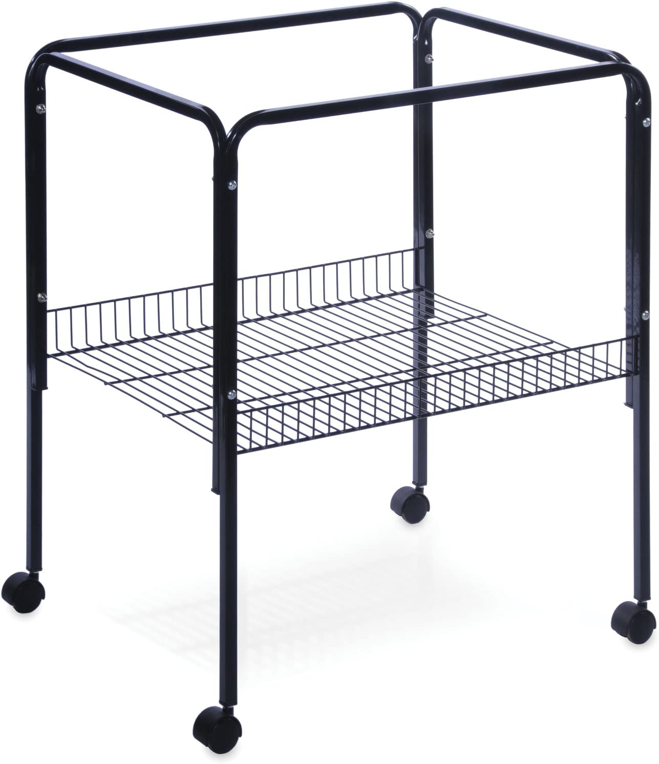 Prevue Pet Products Rolling Stand with Shelf, Black : Birdcage Stands : Pet Supplies