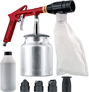TCP Global Brand Air Sand Blasting Gun with Sand Recovery System (Includes Abrasive)