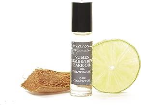 Men's Natural Cologne - Lime & Tree Bark Oil - Essential Oil Cologne - Men's Cologne - Natural Rollerball Oil - Rollerball Fragrance - Cedar Wood Oil - Rollerball Cologne for Men - Lime Cologne