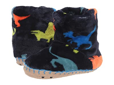 Hatley Kids Dino Herd Fleece Slippers (Toddler/Little Kid) (Navy) Boy